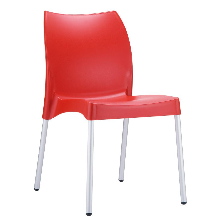 Icon side chair red zap trading for Sedie tavoli bar prezzi