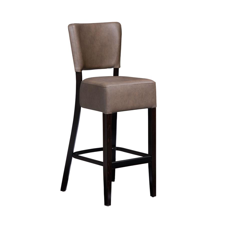 Simone Leather Bar Chair
