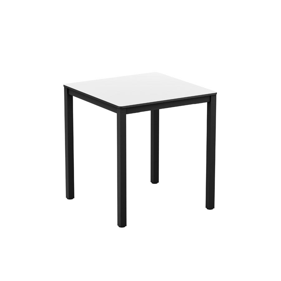EXTREMA White 4 Leg Dining Table Black 69x69cm ZA  : Extrema White 4 Leg Dining Table Black 69x69cm ZA725CT from zaptrading.co.uk size 900 x 900 jpeg 21kB