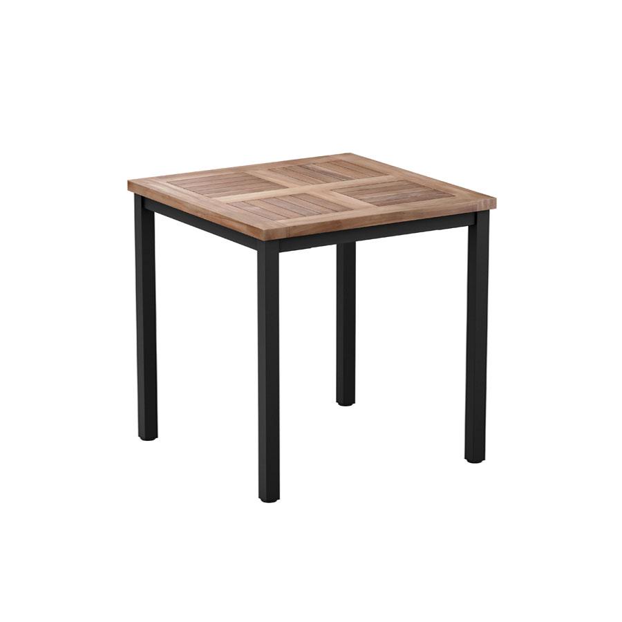 TEAK 4 Leg Dining Table Black 80x80cm ZA752CT Zap  : Teak 4 Leg Dining Table Black 80x80cm ZA752CT from zaptrading.co.uk size 900 x 900 jpeg 31kB