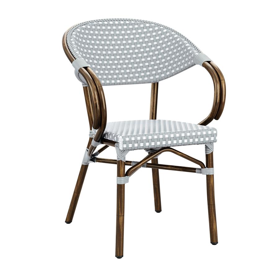 Description. Bistro arm chair  sc 1 st  Zap Trading & PANDA Arm Chair - ZA.677C - White u0026 Pacific Blue Weave - Zap Trading