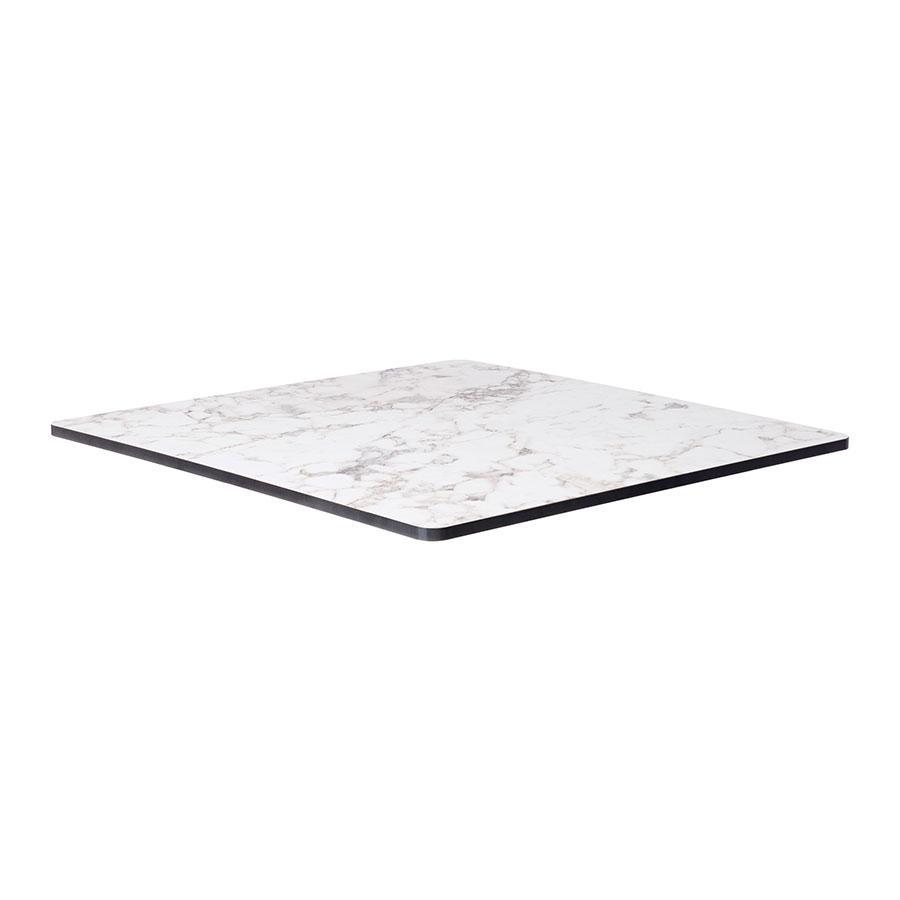 Linus 79cm White Marble Coffee Table: 79 X 79 White Carrara Marble